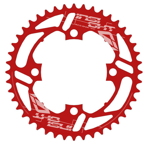 INSIGHT 4 Bolt Chainring 104mm bcd 5mm 38T (Red)