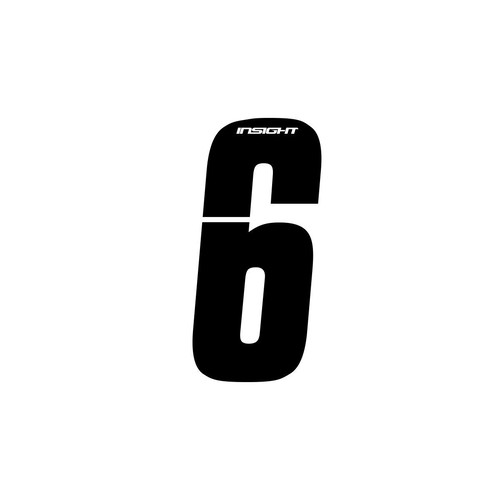 "INSIGHT 4"" Number-6 (Black) each"